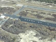 Aerial View of Airport and Runway