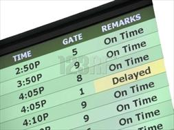 Screen Showing Flight Arrivals and Departures